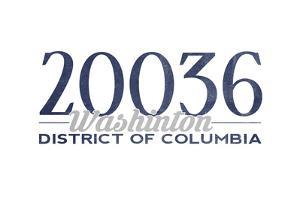 Washington D.C. - 20036 Zip Code (Blue) by Lantern Press