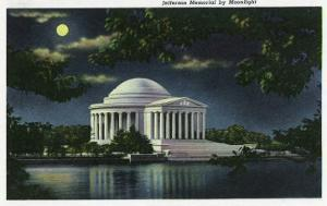 Washington DC, Exterior View of the Jefferson Memorial at Night by Lantern Press
