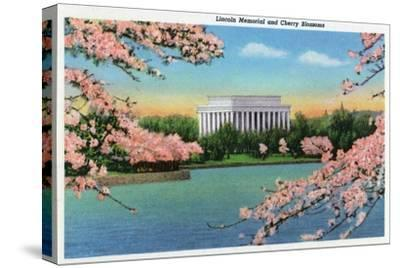 Washington DC, View of the Lincoln Memorial through Blossoming Cherry Trees