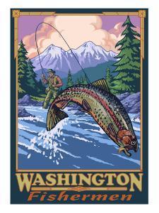 Washington Fisherman, Washington by Lantern Press