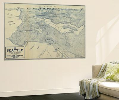 Washington - Panoramic Map of Seattle