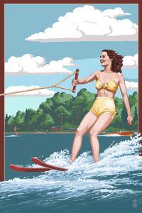 Water Skier and Lake by Lantern Press