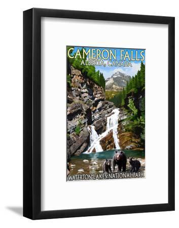 Waterton Lakes National Park, Canada - Cameron Falls and Bear Family