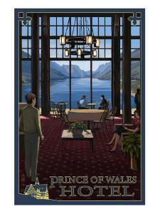 Waterton National Park - Prince of Wales Hotel Interior by Lantern Press