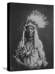 Weasel Tail Piegan Indian Native American Curtis Photograph by Lantern Press