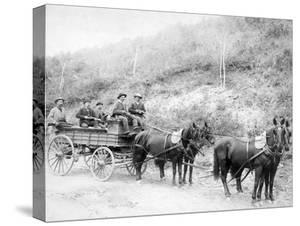 Wells Fargo Express Company Wagon and Guards Carrying Gold from Mine Photograph - Deadwood, SD by Lantern Press