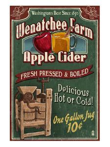 Wenatchee, Washington - Apple Cider by Lantern Press