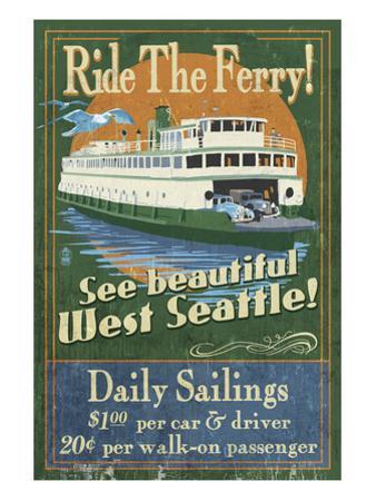 West Seattle Ferry by Lantern Press