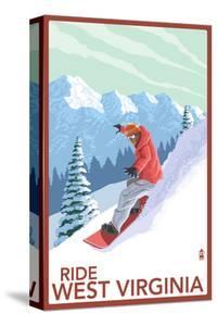 West Virginia - Snowboarder by Lantern Press