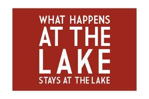 What Happens at the Lake (Red) by Lantern Press