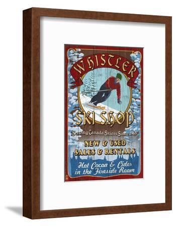 Whistler, Canada - Ski Shop Vintage Sign