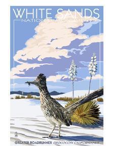 White Sands National Monument, New Mexico - Roadrunner by Lantern Press
