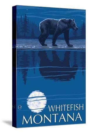 Whitefish, Montana - Bear at Night