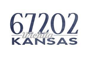 Wichita, Kansas - 67202 Zip Code (Blue) by Lantern Press