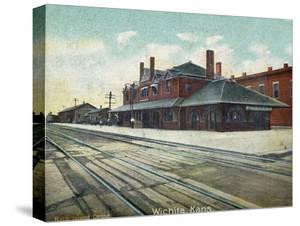 Wichita, Kansas - Exterior View of Rock Island Train Depot by Lantern Press