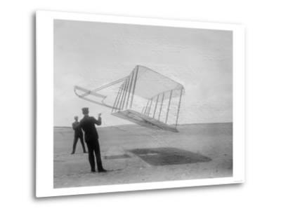 Wilbur and Orville Wright Flying Glider Photograph