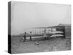 Wilbur & Orville Wright in 2nd powered machine Photograph - Dayton, OH by Lantern Press