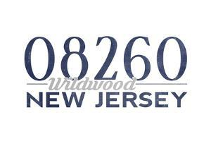 Wildwood, New Jersey - 08260 Zip Code (Blue) by Lantern Press