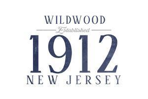 Wildwood, New Jersey - Established Date (Blue) by Lantern Press