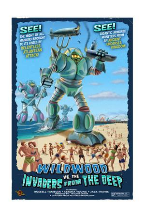 Wildwood, New Jersey - Invaders from the Deep by Lantern Press