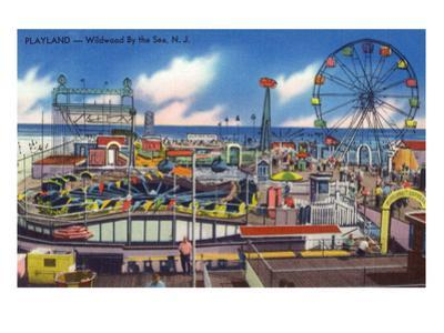 Wildwood, New Jersey - Wildwood-By-The-Sea Playland View