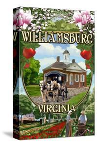 Williamsburg, Virginia - Montage Scenes by Lantern Press
