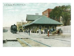 Willimantic, Connecticut - Railroad Station Exterior View by Lantern Press