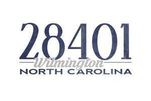 Wilmington, North Carolina - 28401 Zip Code (Blue) by Lantern Press