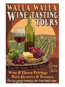 Wine Tasting - Walla Walla, Washington by Lantern Press