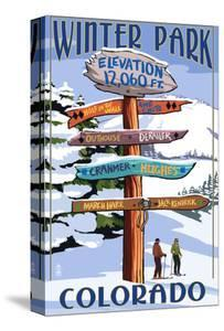 Winter Park, Colorado - Sign Destinations by Lantern Press