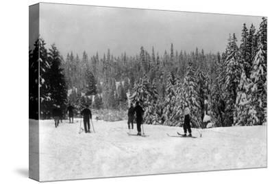 Wintertime Skiing at Longbarn Lodge - Long Barn, CA