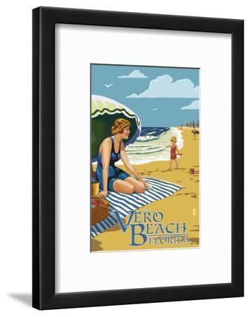 Woman and Beach Scene - Vero Beach, Florida