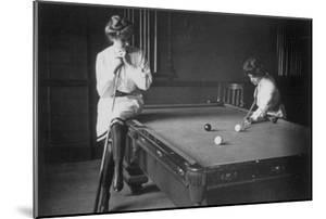 Woman Playing Billiards Photograph by Lantern Press
