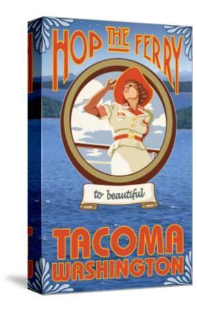 Woman Riding Ferry, Tacoma, Washington