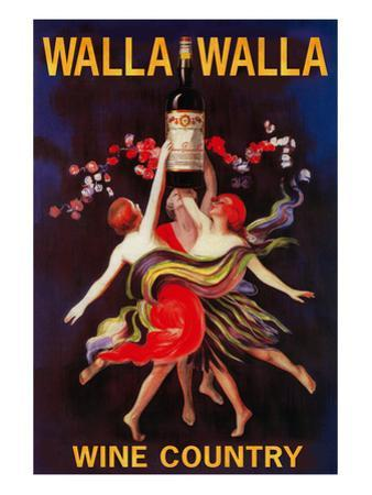 Women Dancing with Wine - Walla Walla, Washington by Lantern Press