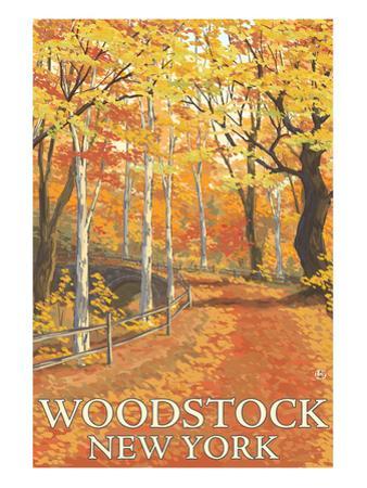 Woodstock, New York - Fall Colors Scene