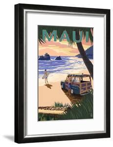 Woody and Beach - Maui, Hawaii by Lantern Press