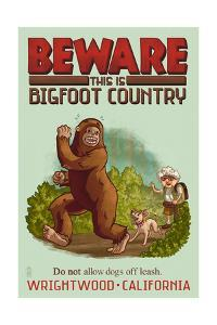 Wrightwood, California - Bigfoot Country - No Dogs Off Leash by Lantern Press