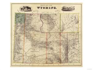 Wyoming - Panoramic Map by Lantern Press