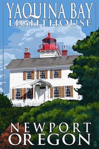 Yaquina Bay Lighthouse - Newport, Oregon by Lantern Press