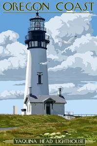 Yaquina Head Lighthouse - Oregon Coast by Lantern Press