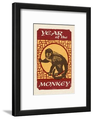 Year of the Monkey - Woodblock