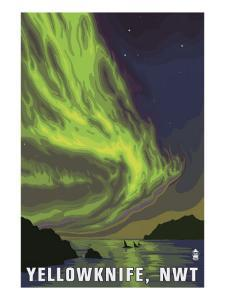 Yellowknife, NW Territories, Canada, Northern Lights and Orca by Lantern Press