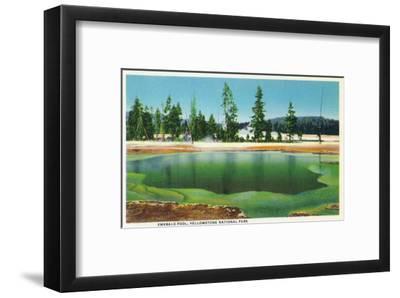 Yellowstone Nat'l Park, Wyoming - Emerald Pool Scene
