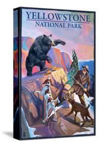 Yellowstone National Park - Bear Hunting Scene by Lantern Press