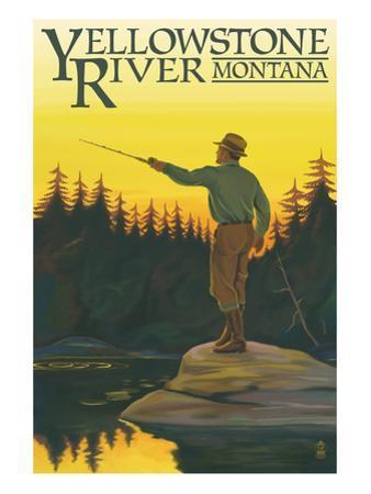 Yellowstone River, Montana - Fly Fishing Scene