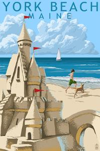 York Beach, Maine - Sand Castle by Lantern Press