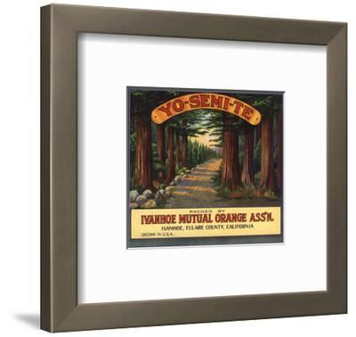 Yosemite Brand - Ivanhoe, California - Citrus Crate Label