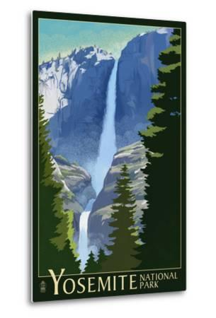 Yosemite Falls - Yosemite National Park, California Lithography