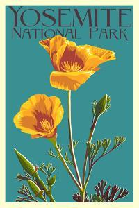 Yosemite National Park, California - Poppy by Lantern Press